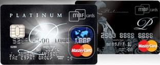 MBF Cards Expat Platinum and Lady Platinum MasterCard