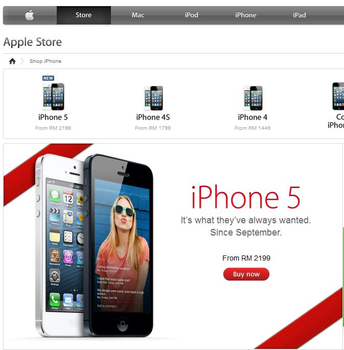 Apple Online Store iPhone 5