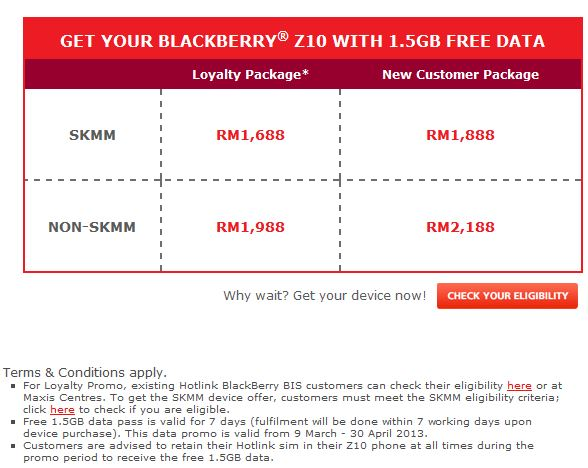 Grab Most Valuable Blackberry Z10 without Contract NOW only RM1,688